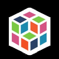 Cube white transpbg